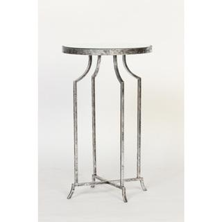 Silver Leaf Mirror Top Round Accent Table , Overstock.com