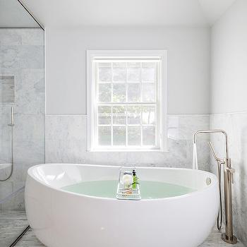 Egg Bathtub, Contemporary, Bathroom, Clean Design Partners
