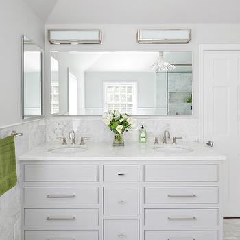 Light Gray Bathroom Vanity, Contemporary, Bathroom, Clean Design Partners