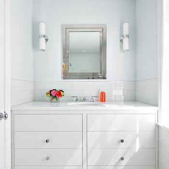 White and Blue Bathrooms, Contemporary, Bathroom, Clean Design Partners