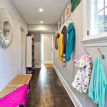 Mudroom Hallway, Contemporary, Laundry Room, Clean Design Partners