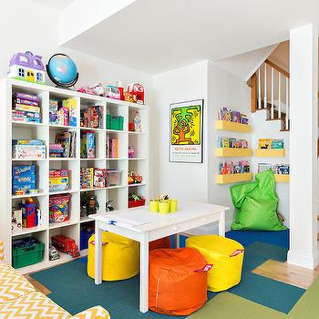 Playroom in Basement, Traditional, Basement, Clean Design Partners