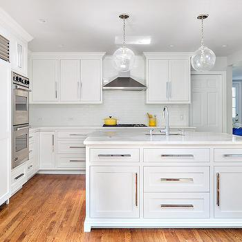 Kitchen Cabinets with Long Pulls, Contemporary, Kitchen, Clean Design Partners