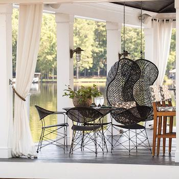 Outdoor Hanging Chairs, Country, Deck/patio, Heather Garrett Design