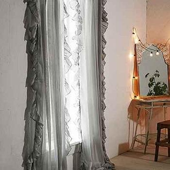 Plum & Bow Ruffle Gauze Curtain I Urban Outfitters