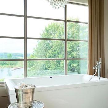 Bathtub in Front of Window, Contemporary, Bathroom, Kimberley Seldon Design Group