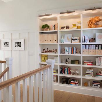 Hall with Bookcase, Transitional, Entrance/foyer, Modern Organic Interiors
