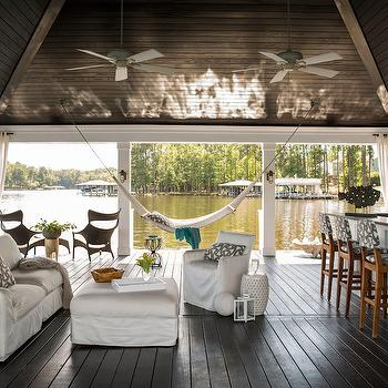 Boat Dock Lounge, Country, Deck/patio, Heather Garrett Design