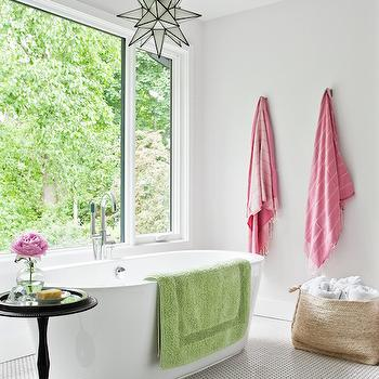 Bathroom with Pink Accents, Contemporary, Bathroom, Jennifer Worts Design