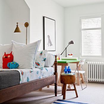 Kids Rockets Bedding, Transitional, Boy's Room, Jennifer Worts Design