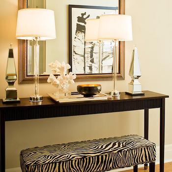 Zebra Bench, Contemporary, Entrance/foyer, Kimberley Seldon Design Group