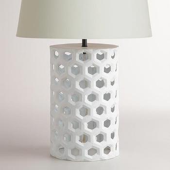 White Honeycomb Table Lamp Base I World Market