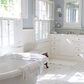 Marble Brick Floor, Traditional, Bathroom, Kathleen DiPaolo Designs