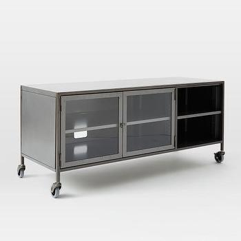 Industrial Metal Media Console, Small I West Elm