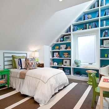 Sloped Ceiling Built Ins, Contemporary, Boy's Room, Cardea Building Co.