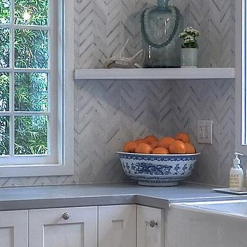 Marble Herringbone Pattern Backsplash, Transitional, Kitchen, Kathleen DiPaolo Designs