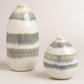 Gray Thai Stripe Ceramic Vases I World Market
