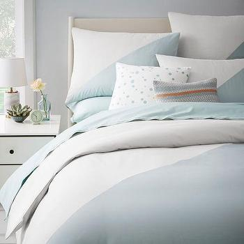 Kate Spade Saturday Chambray Diagonal Duvet Cover + Shams I West Elm