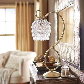 Swirls & Drops Lamp, Gold I Pier 1