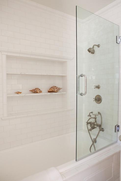 Shower Niche Ideas Cottage Bathroom Kathleen Dipaolo Designs