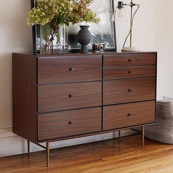 Heston Mid-Century 7-Drawer Dresser, Rosewood I West Elm