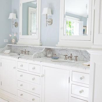 Vanity Backsplash with Shelf, Traditional, Bathroom, Kathleen DiPaolo Designs