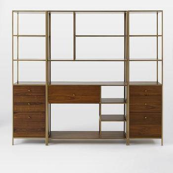 Nook Storage Set, Wide Storage + 2 Cabinet Base Towers I West Elm