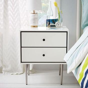 Heston Mid-Century Nightstand, White Lacquer I West Elm