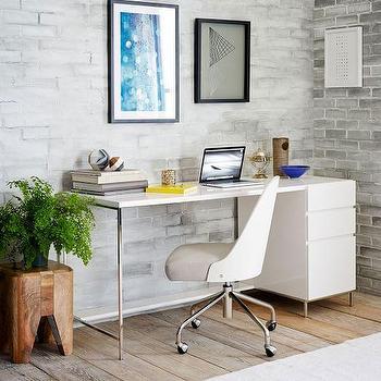 Lacquer Storage Desk Set, Box File I West Elm