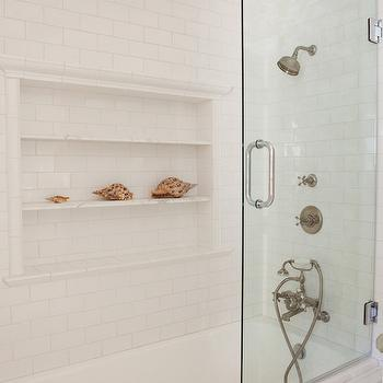 Shower Niche Ideas, Cottage, Bathroom, Kathleen DiPaolo Designs