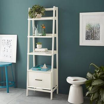 Mid-Century Bookshelf, Narrow Tower I West Elm