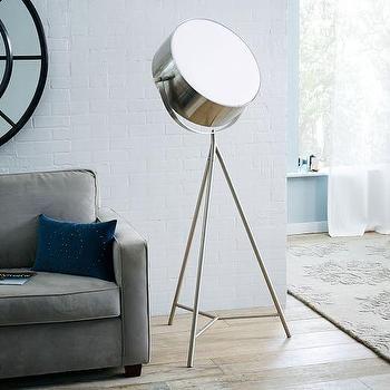 Spotlight Metal Tripod Floor Lamp I West Elm