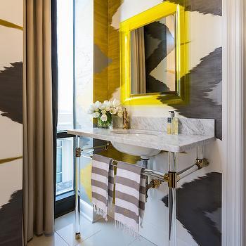Yellow and Gray Bathrooms, Contemporary, Bathroom, Tobi Fairley