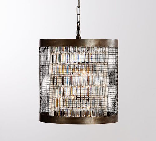 Pottery Barn Austin Caged Crystal Large Pendant