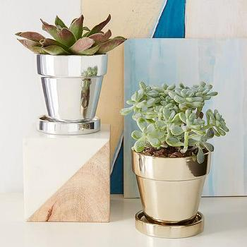 Metallic Planter I West Elm