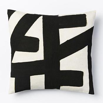 Kisanii Pillow Cover, Black/Natural I West Elm