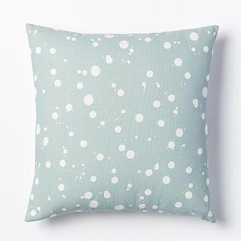 Kate Spade Saturday Splatter Pillow Cover, Light Pool I West Elm