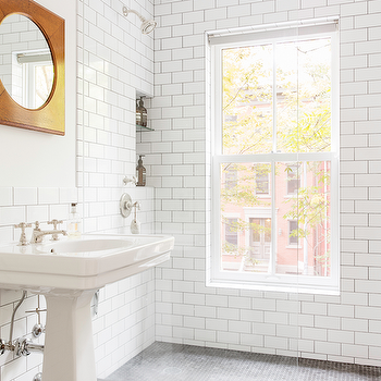 Shower with Window, Transitional, Bathroom, Ensemble Architecture