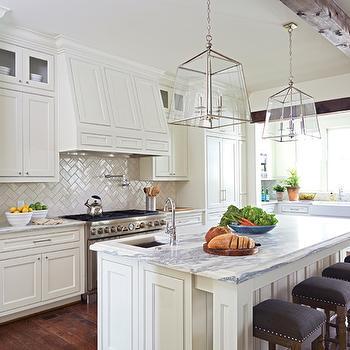 Kitchen with Herringbone Pattern Backsplash, Transitional, Kitchen, Birmingham Home and Garden