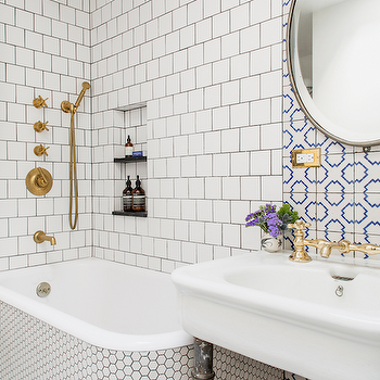 Hex Tiled Tub, Contemporary, Bathroom, Ensemble Architecture