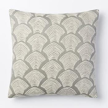 Crewel Deco Shells Pillow Cover, Platinum I West Elm