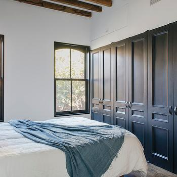 Closets with Black Doors, Contemporary, Bedroom, Ensemble Architecture
