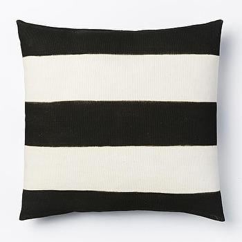 Mistari Pillow Cover, Black/Natural I West Elm