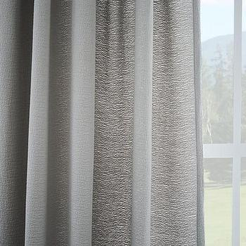 Brighton Matelasse Curtain, Platinum I West Elm