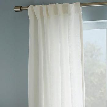 Brighton Matelasse Curtain, Stone White I West Elm