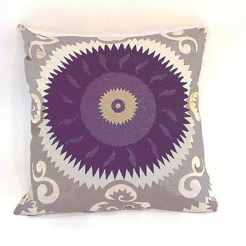 Emperors Sun Plum Pillow design by Baxter Designs I Burke Decor