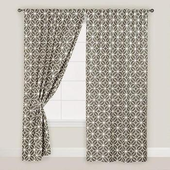 Gray Geometric Tile Concealed Tab Top Curtains, Set of 2 I World Market