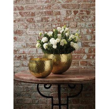 Gold Hammered Brass Bowls design by Lazy Susan I Burke Decor