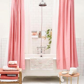 Pink Shower Curtains, Contemporary, Bathroom, Target