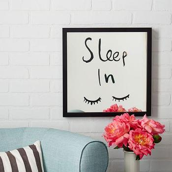 Kate Spade Saturday Mirrored Wall Art, Sleep In I West Elm